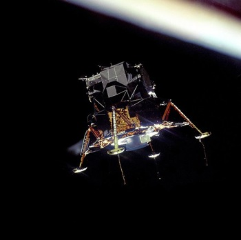 Apollo 11 Lunar Module Eagle in landing configuration
